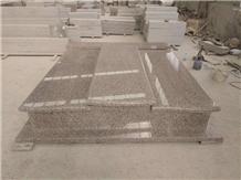 G361 Granite Double Tombstone Headstone Monument
