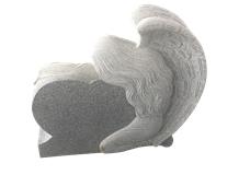 G603 Engraved Tombtones,Grey Upright Headstones