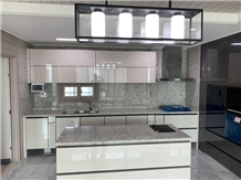 Sink Cut Out White Rose Granite Countertops