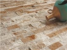 Split Stone, Mixed Of Travertine Mosaic