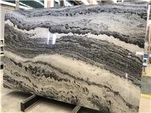 Bespoke Mercury Black Marble for Setting Wall