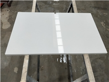 Bespoke White Quartz Hotel Large Side Table