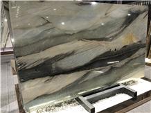 Brazil Santorini Quartzite Natural Slabs for Decor