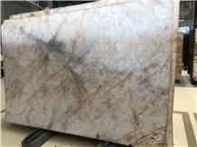 Brazil White Cristallo Quartzite Wall Background