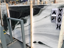 China Panda White Marble Book Matched Slabs Tiles