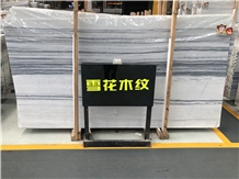 China Snowflake Wood Grain Marble Slab for Walling