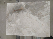 Customized French Vanilla Marble Side Table Tops
