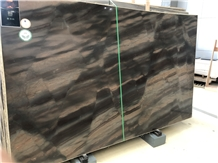 Duetto Elegant Brown Quartzite Slab for Interior Bath Tops