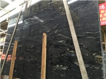 High Quality Cosmos Black Granite Polished Slabs