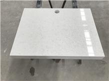 Hotel Quality White Granite-Look Quartz Countertop