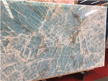 Luxury Blue Ice Jade Onyx Slabs for Hotel Project