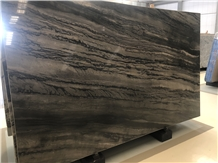New Brazilian Galapagos Black Quartzite Slabs Tile