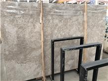 Polished Rose Caster Ash Grey Marble Slab in China