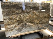 Polished Wild Forest Quartzite Slab for Hotel Wall