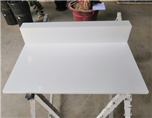 Pure White Quartz Custom Hotel Luggage Bench Tops
