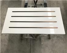 Seashell White Quartz Bank Drawer Work Tops Design