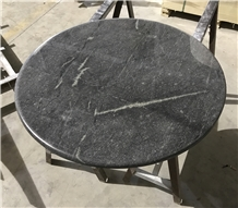 Soho Grey Natural Quartzite Round Cafe Table Tops