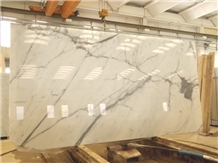 Statuario Venato Marble Slabs, White Marble