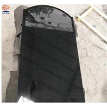 China Factory Absolute Black Granite Headstone