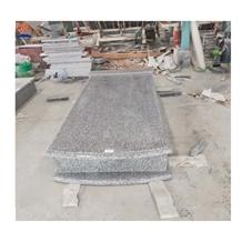 European Tombstone Jilin White Granite Headstone