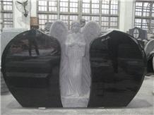 Factory Price Angel Polished Granite Headstone