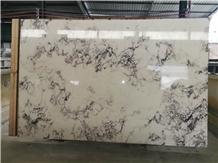 Violet Flor China White Marble Slabs