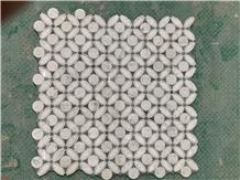 Italy Carrara White Marble Waterjet Mosaics