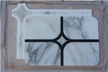 Oriental White Nero Marquina Marble Mosaics