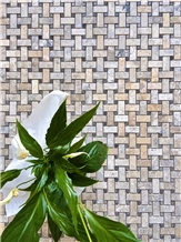 Basketweave Philadelphia Travertine F/H Mosaic