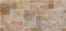 Kula Noce Travertine Pattern Floor Tile, Turkey Brown Travertine