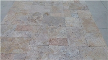 Tumbled Autumn Travertine Floor Pattern Tiles