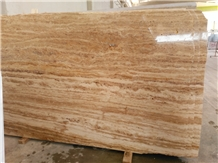 Walnut Dark Brown Travertine Slabs, Tiles