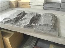 Mushroom Stone Wall Split Bluestone Natural Cleft