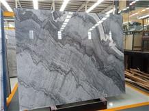 China Bruce Ash Impression Gray Marble Slabs