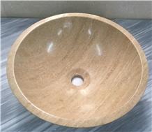 Golden Sienna Travertine Wash Basin Bowl Sinks
