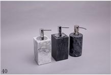 Natural Marble Crafts Hotel Bathroom Lotion Bottle