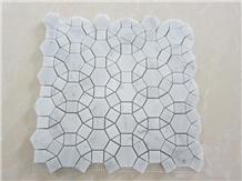 China Carrara Marble Mosaic Wall Floor Tiles