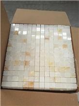 China Golden Jade Marble Mosaic Tiles