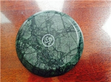 Green Marble Coaster Marble Accessories