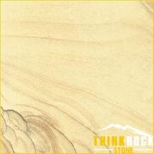 China Yellow Wood Vein Sandstone Slab Tile