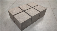 Cube Basalt Paving Stone Bush Hammered Finish