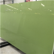 Cheap Pure Green Quartz Stone Solid Surfaces
