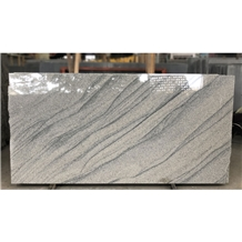 Polished Viscont White Wavy Granite Slabs