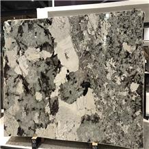 Polished White Glimmer Granite Slabs
