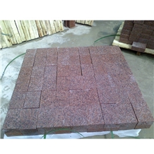 Polished Zhuangcheng Red Granite Tiles
