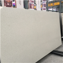White Solid Surface Quartz Engineered Stone Slabs
