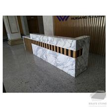 Arabescato Marble Reception Countertops