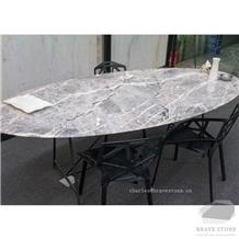 Italy Bosco Margra Marble Countertop Desk
