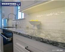 Kitchen Countertop Vicostone Bq9470 Azul Aran