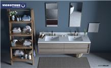 Quartz Bathroom Countertop Vicostone Bs390 Stellar